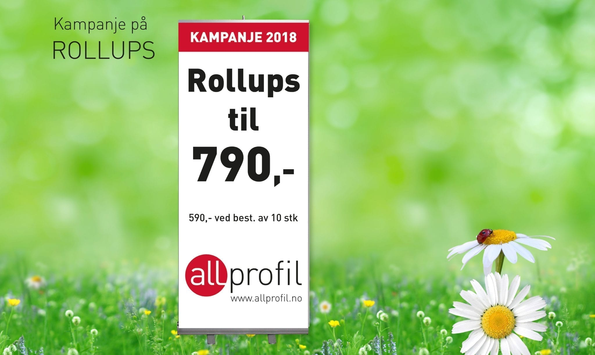 Bilde av rollup - Allprofil AS - Trykksaker - Profilering - Klær - Digital skilting - Tjenester - Kontakt