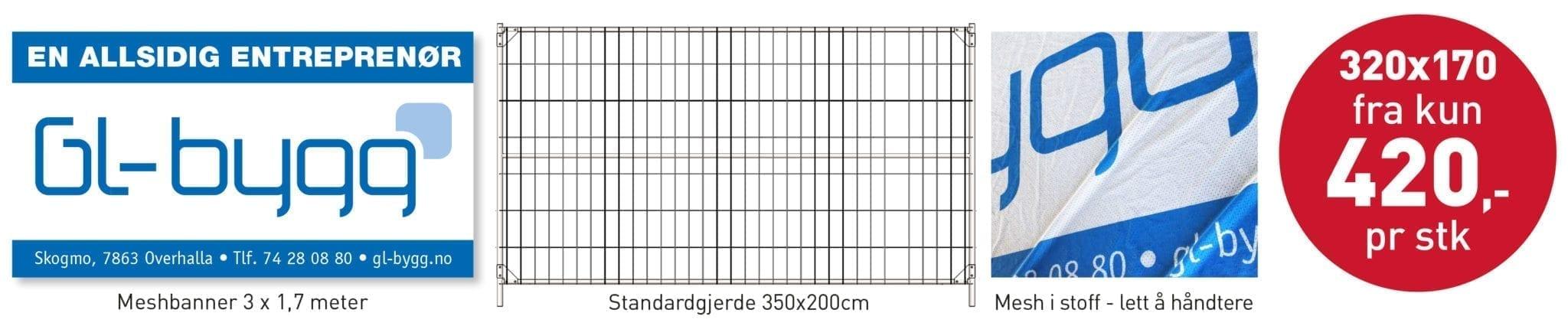 Meshbannere til byggeplassen - Allprofil AS - Trykksaker - Profilering - Klær - Digital skilting - Tjenester - Kontakt