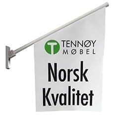 Eksempelbilde av kioskflagg - Allprofil AS - Trykksaker - Profilering - Klær - Digital skilting - Tjenester - Kontakt