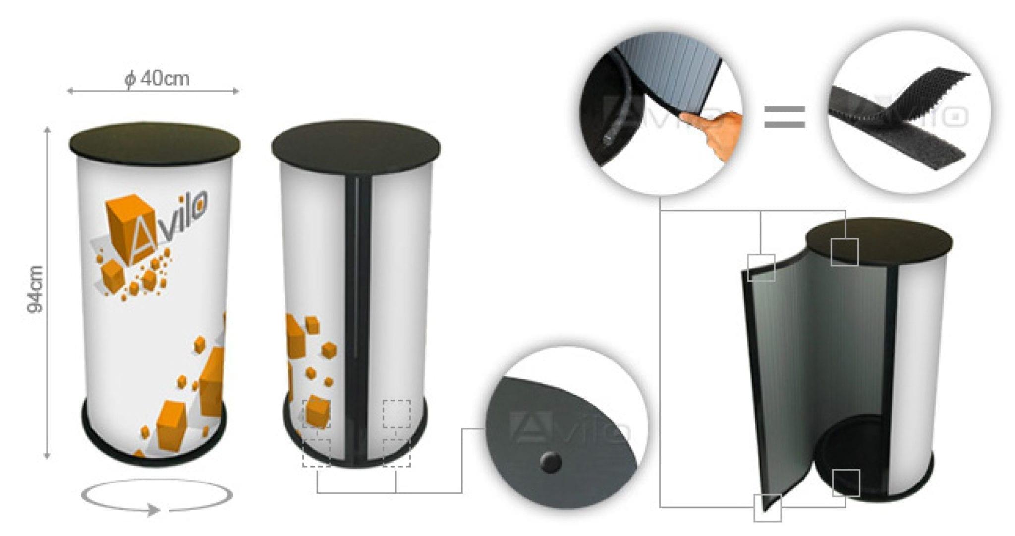 Messebord - Allprofil AS - Trykksaker - Profilering - Klær - Digital skilting - Tjenester - Kontakt