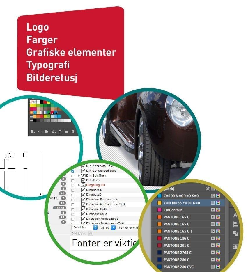 Bildeeksempel av grafisk design - Allprofil AS - Trykksaker - Profilering - Klær - Digital skilting - Tjenester - Kontakt