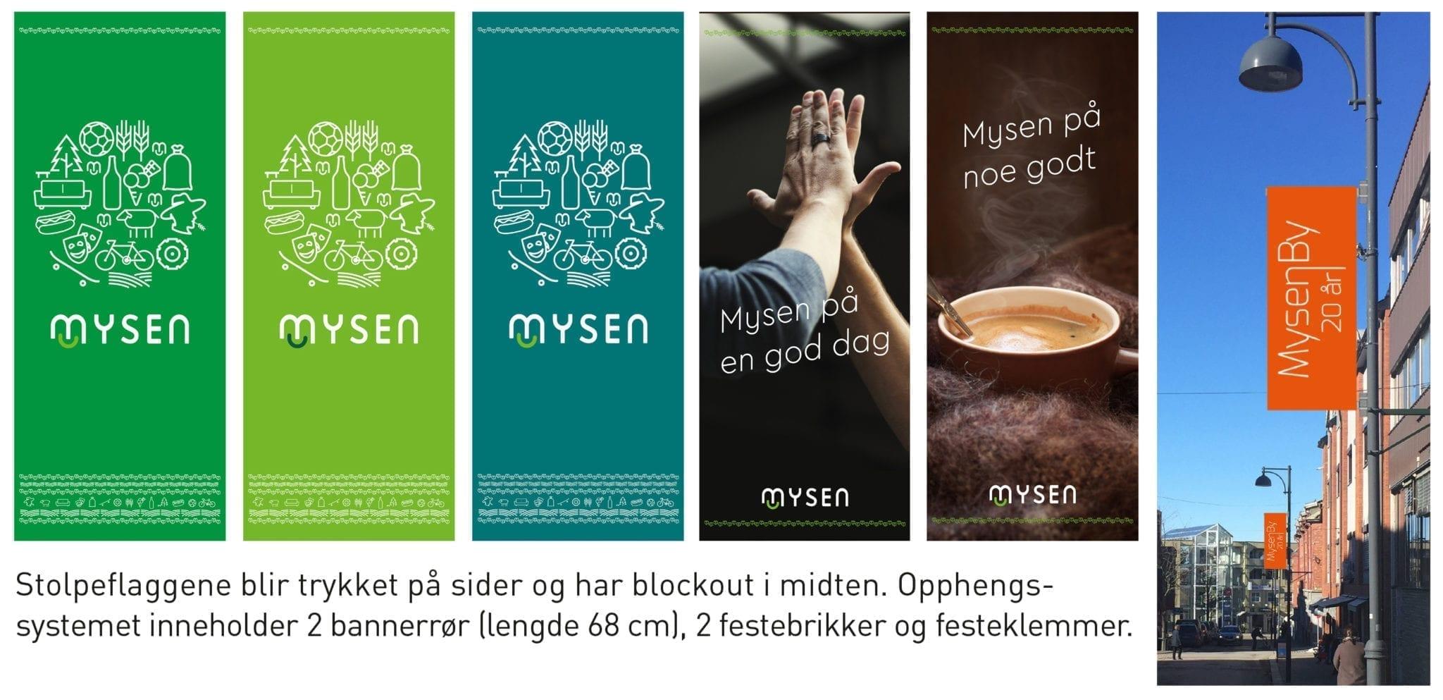 Eksempelbilder av stoleflagg - Allprofil AS - Trykksaker - Profilering - Klær - Digital skilting - Tjenester - Kontakt
